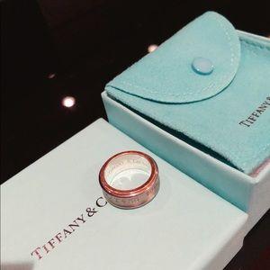 Tiffany & Co 1837 Sterling Silver Titanium Ring